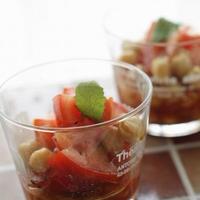 トマトとひよこ豆のマスタードマリネ