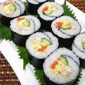 茹で鶏+柚子こしょう キムパ風な海苔巻き