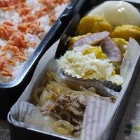 サムジャンdeちょいピリ牛丼とキャベツとコーンのコールスローサラダのお弁当♪&京都金閣寺~