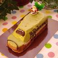 E5系はやぶさのパウンドケーキ☆子どもが喜ぶ!簡単クリスマスケーキ・第2弾 by めろんぱんママさん