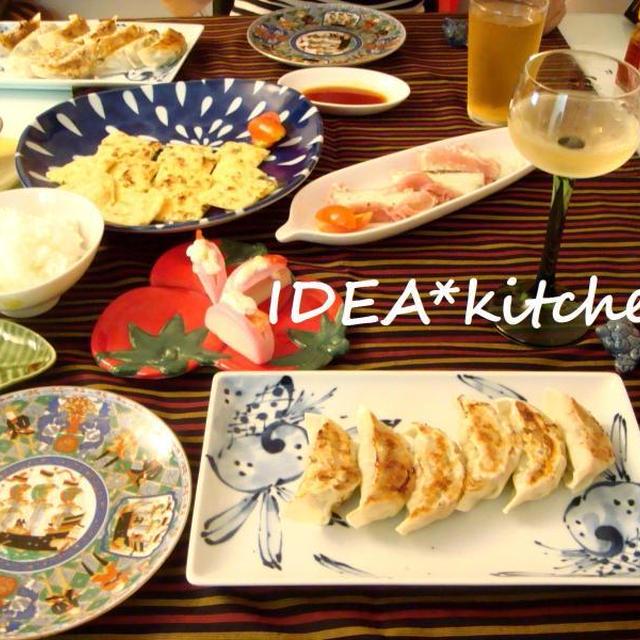 ★餃子チヂミ定食の食卓**雨と涼と銀ブラと。