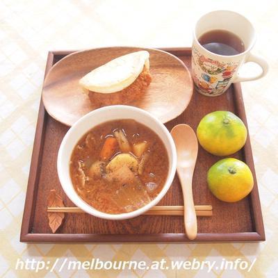 週末朝ごはん -豚汁-