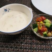 フランクロールとさっぱりお豆のサラダ