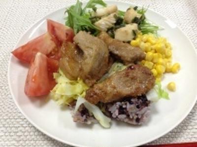 豚肉の塩麹炒めのせワンプレートごはん(レシピ)