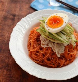辛さマイルド☆ビビン麺(韓国風甘辛素麺)【#簡単 #ピリ辛 #素麺】
