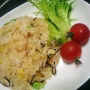 枝豆と塩昆布の炒飯