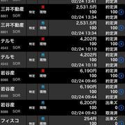 【株式投資】2/24売って買い戻してアンモニア気になる!