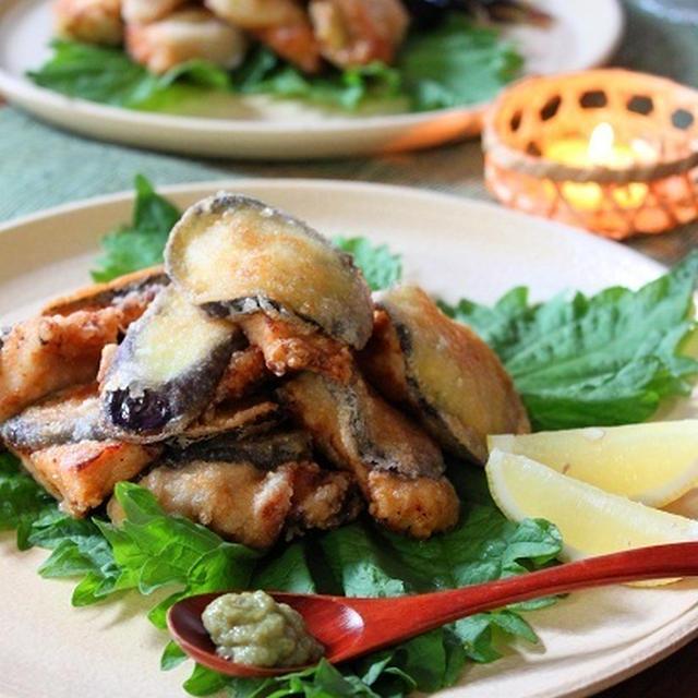 なすと鶏むね肉のジューシー唐揚げ なつかしい・・・ はなまるレシピ♪