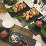 おもてなし料理の一品~地元食材「桜えび」を使っていなり寿司