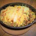 簡単すぎ スキレットで野菜サラダの巣ごもりたまごねぎ塩マヨ焼き