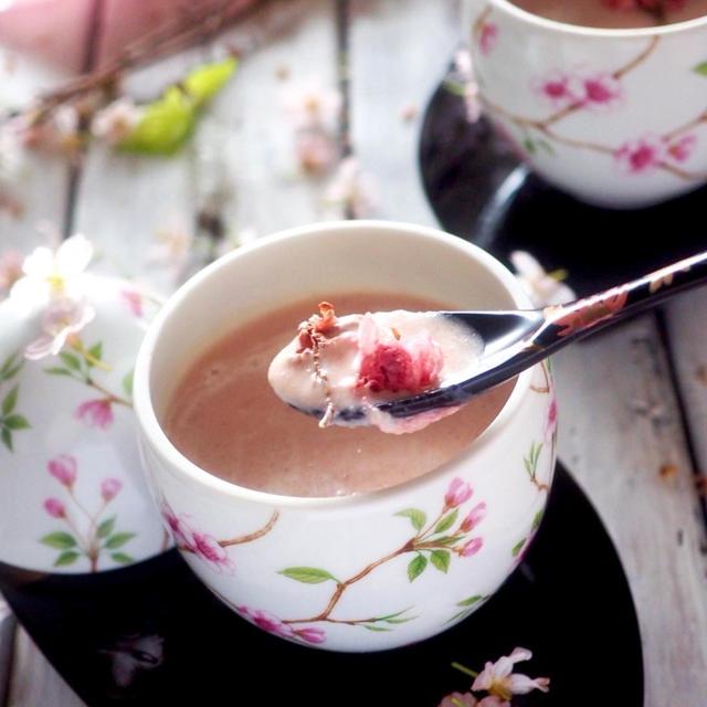 桜の色は何色❓春待ち桜のポタージュスープ