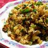 ニラとひき肉の中華風ドライカレー