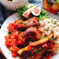 フライパン1つで!スペアリブのトマト煮込み(動画有)