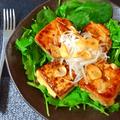 一丁ぺろり事件。胡麻バターガーリックの和風味噌豆腐ステーキ(糖質6.7g) by ねこやましゅんさん