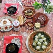 海老と苺のマリネ/ズッキーニと魚のロール蒸し
