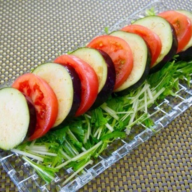 水ナスとトマトの夏サラダ