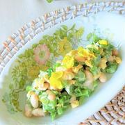 菜の花と大豆のヘルシーサラダ by BiBiすみれさん