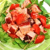 蛸とトマトとルッコラのサラダ
