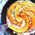 フライパン1つで簡単!南瓜と挽肉の生クリームグラタン