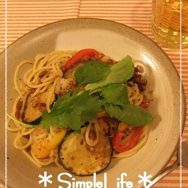 ひとりさらさらスパゲティ☆と、おすすめおやつ「ハーベストフルーツサンド」