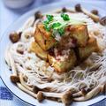焦がしめんつゆの豆腐カットステーキ素麺