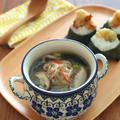 食べるスープ♪鶏生姜だんごの旨塩春雨スープ