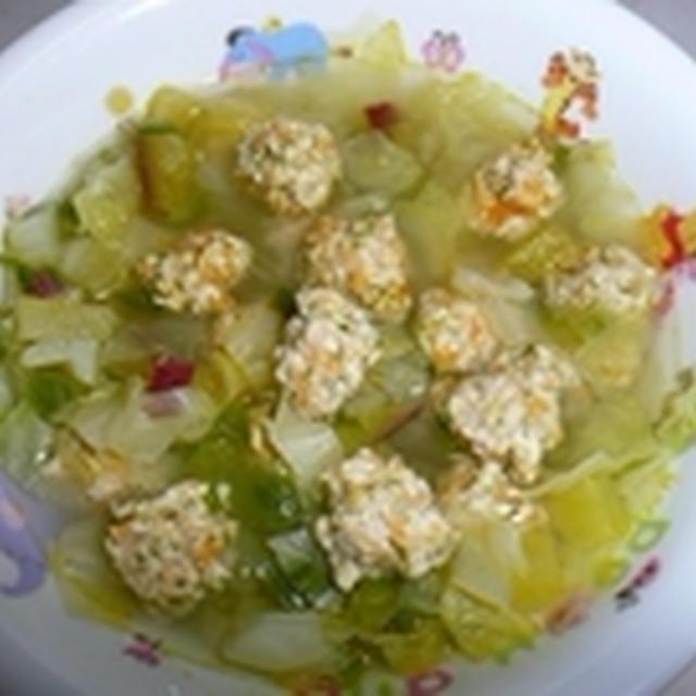 鶏団子スープご飯