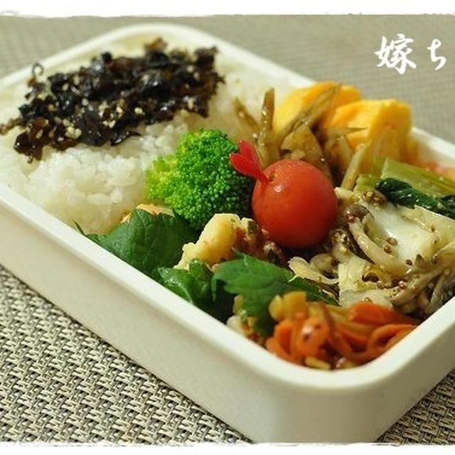 フワッフワ!海老とはんぺんのマヨおやきなお弁当!