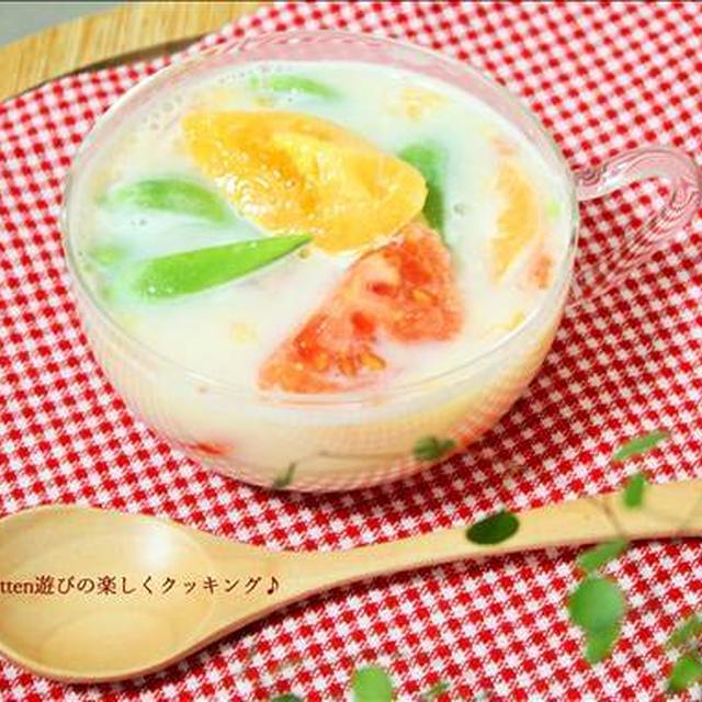 パッパッと10分de健康パワーアップ↑トマトの豆乳味噌スープ