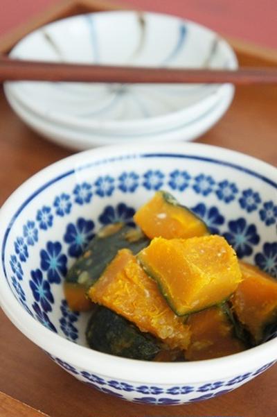 かぼちゃの塩麹煮&ブロッコリーの豆乳ツナマヨソース