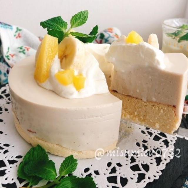 【レシピ動画】ココナッツパインのダブルチーズケーキ