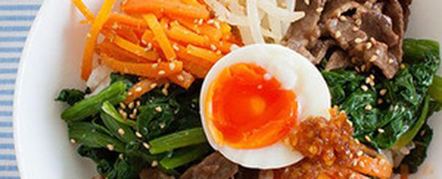 がっつりごはんで大満足!野菜も摂れちゃう「ビビンバ丼」レシピ