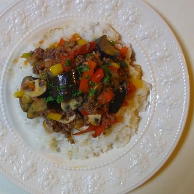 夏野菜のミートライス