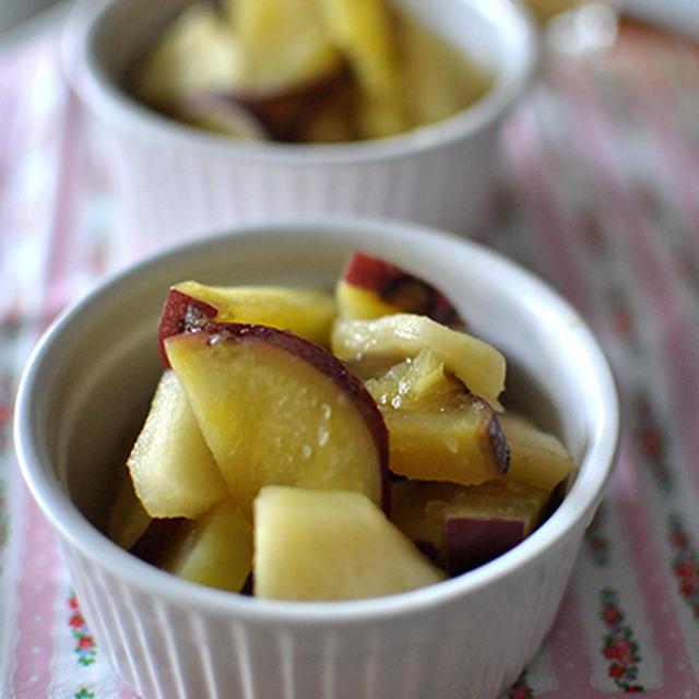 おさつとりんごのメープル煮