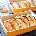 エアーオーブンでリンゴとさつま芋のブリュレ風♪