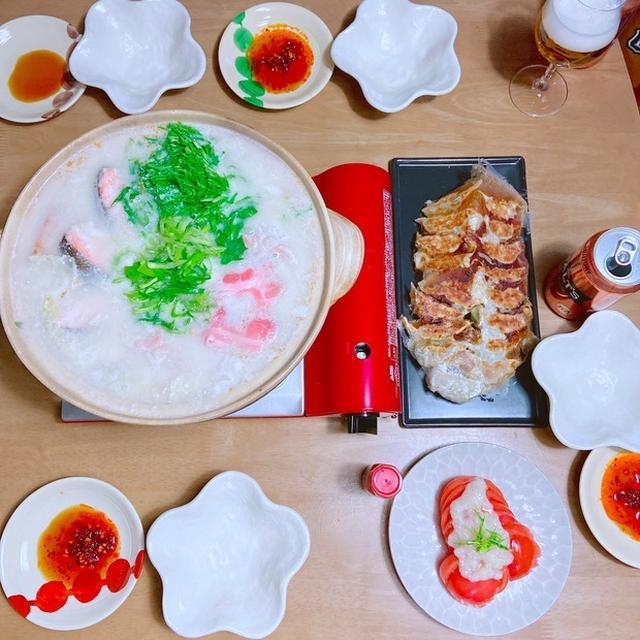 酒粕鍋&餃子の週末ごはん