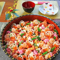 新年会やひな祭りに♪テーブルが華やぐ簡単海鮮バラちらし寿司!