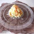 サーモンと山芋の冷製パスタ