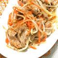 パパッと炒めて簡単ゴハンがすすむ節約おかず!コリアンダー香る豚肉ともやしのエスニック炒め。