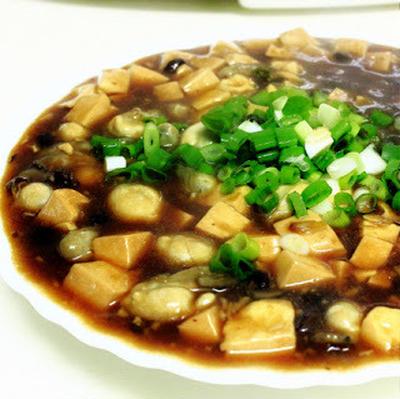 蔭豉蚵│豆腐とカキの中華餡かけ
