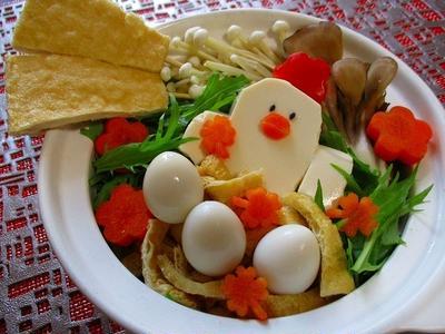 水菜とおあげたっぷり!酉年デコのヘルシー草鍋♪