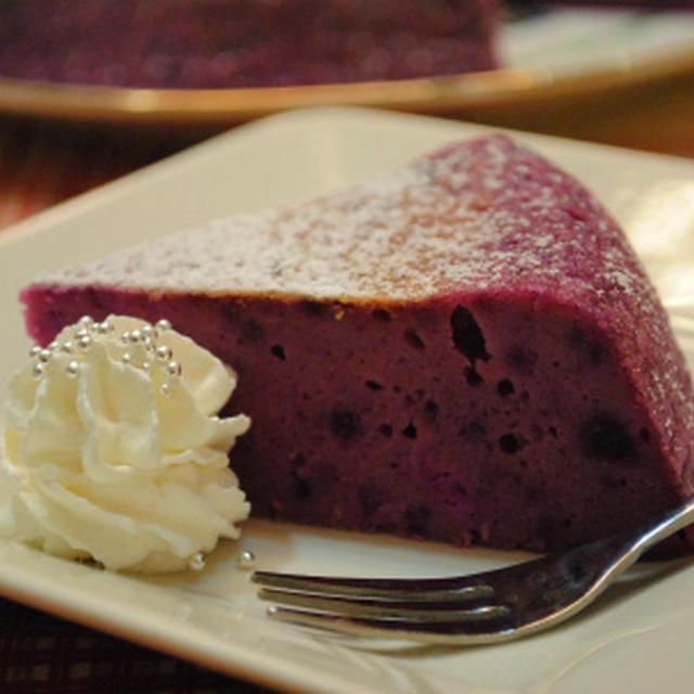 ホットケーキミックス×炊飯器で 紫芋のチーズケーキ ☆