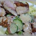 焼き豚切り落としサラダ~お得に美味しく!