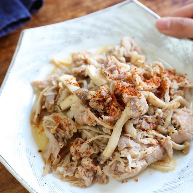 レシピ【下味冷凍】ごはんがすすむ!豚肉ときのこの甘辛生姜炒め