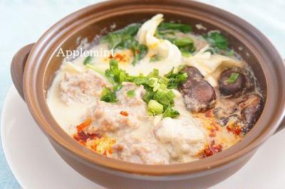 肉団子と野菜の豆乳シャンタン鍋