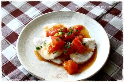 鶏胸肉のツルっと冷たいオイスタートマトソース添え(´∀`*)とまさかの選曲。