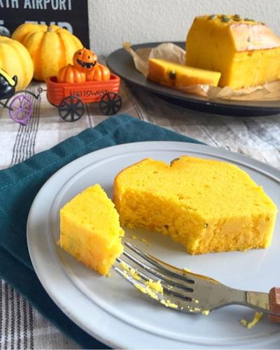 しっとり♪かぼちゃのパウンドケーキ♪簡単混ぜるだけ♪