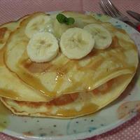 豆乳で作るパンケーキ・バナナソース