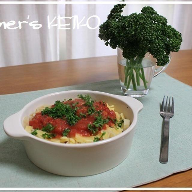 パセリの栄養と保存方法 ~レシピは『チーズとアラビアータソースのパスタ』です