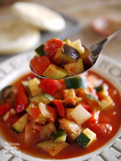 夏野菜|作り置き|アレンジ|付け合わせ|ラタトゥイユの作り方|How to make Ratatouille